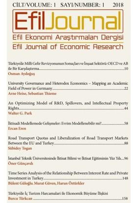 Efil Ekonomi Araştırmaları Dergisi: Cilt: 1 Sayı 1, 2018