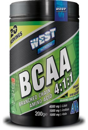 West Nutrition BCAA 4:1:1 200 gr - 20 Servis