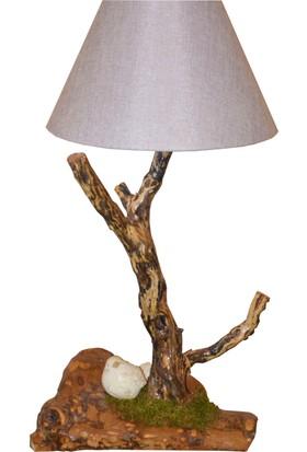 Woodlove Kuşlu Ağaç Abajur -Daba35