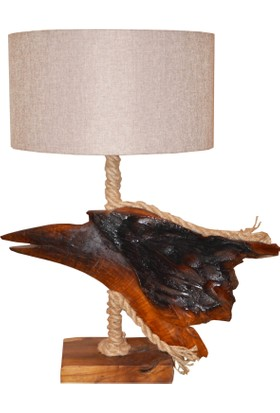 Woodlove Tik Ağaç Abajur - Daba33