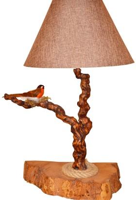 Woodlove Kuşlu Ağaç Abajur - Daba01