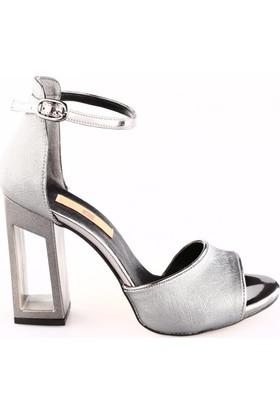 Dgn 1070 Bayan Çerçeve Topuk Bilekten Bağlı Abiye Ayakkabı