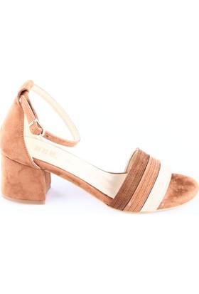 Dgn 30124 Bayan Bilekten Bağlı Kısa Topuklu Sandalet
