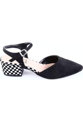 Dgn 41813 Bayan Sivri Burun Parmak Dekolte Bilekten Bağlı Topuklu Ayakkabı