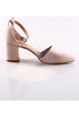 Dgn 587 Bayan Bilekten Bağlı Sivri Burun Topuklu Ayakkabı