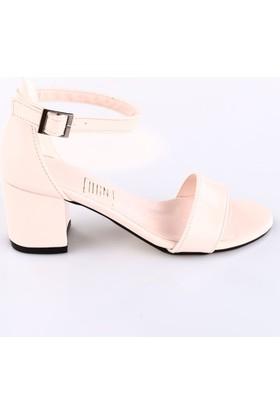 Dgn 7001 Bayan Bilekten Bağlı Topuklu Sandalet