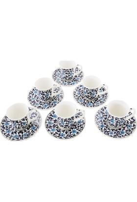 Quartz Ceramics El YapımıSeramik Türk Kahvesi Seti