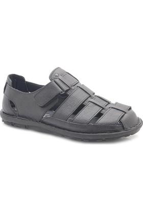 Many S0012 Hakiki Deri Ortopedik Sandalet