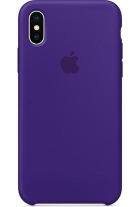 Deer Case Apple iPhone X Silikon Kılıf Kauçuk Arka Kapak
