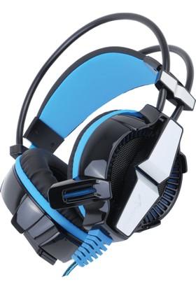 Turbox Gt70 Mavi Ledli Yüksek Sesli Ve Mikrofonlu Oyuncu Kulaklığı
