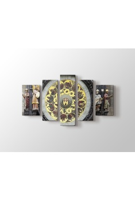 Dekorme Prag Saat Kulesi Kanvas Tablo 110 x 60 cm