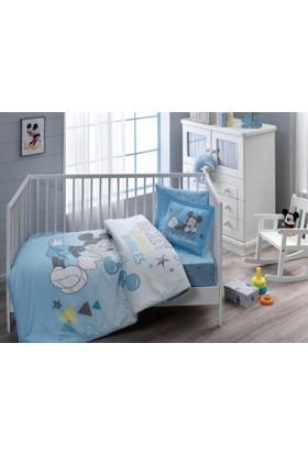 Taç Lisanslı Bebek Nevresim Takımı Disney Mickey Bubble Baby