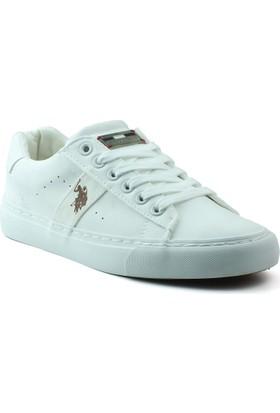 U.S. Polo Assn. Zımon Beyaz Kadın Sneaker Ayakkabı