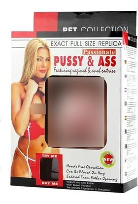 Lovetoy Bet 2 İşlevli Titreşimli Realistik Suni Vajina Anüs Mastürbatör