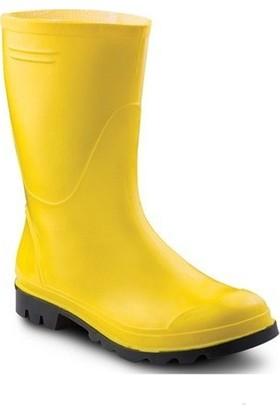 Ulaş PVC İşçi Çizmesi Merdane Kısa Sarı