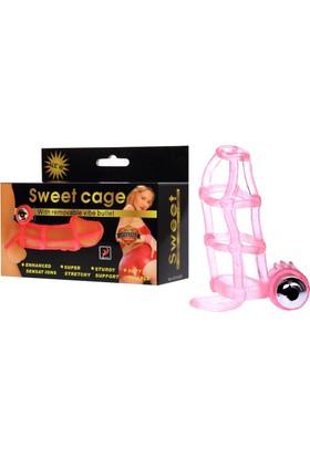 Pretty Love Cage Kafes Kılıf Güçlü Titreşimli Klitoral Uyarıcılı Penis Kılıfı