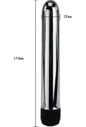 Pretty Love Titreşimli 17Cm Metal Vibratör Anal Vajinal Dildo Penis Plug
