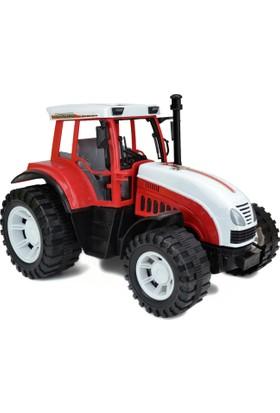 Farrm Sarles Oyuncak Çek Bırak Çiftlik Traktörü 28Cm Büyük Boy Kırmızı