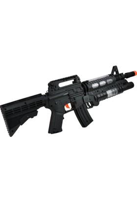 Powerhob Hafif Makineli Oyuncak Tüfek Işıklı Sesli