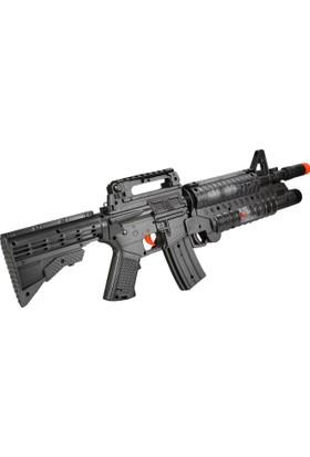 Powerhob Hafif Makineli Oyuncak Tüfek Titreşimli Işıklı Sesli