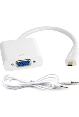 Bst-Micro Hdmı To Vga + Ses Çevirici Adaptör Kablo