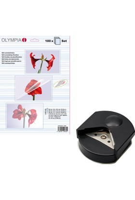 Olympia Karışık PVC Poşeti 80 Micron + Olympia S100 Köşe Kesme Aparatı