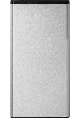 Dexim Slim 5.000mAh Taşınabilir Şarj Cihazı - Gümüş (Micro USB/Lightning Giriş)