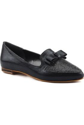 Christina Rose 207 Siyah Büyük Numara Bayan Ayakkabı Abiye Gelin