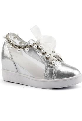 Guja 18y401-26 Gümüş Dolgu Topuk Bayan Gelinlik Ayakkabı
