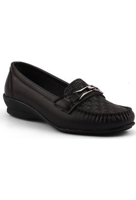 Ccway ZBB18 Kahve Günlük Rahat Taban Anne Bayan Ayakkabı