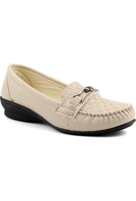 Ccway ZBB18 Bej Günlük Rahat Taban Anne Bayan Ayakkabı