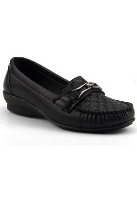 Ccway ZBB18 Siyah Günlük Rahat Taban Anne Bayan Ayakkabı