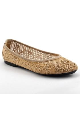 Ayakland Vizon Günlük Yürüyüş Yazlık Dantelli Bayan Babet Ayakkabı