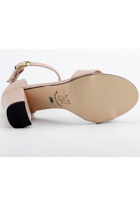 Ayakland Bsm 170 Pudra 7 Cm Topuk Bayan Cilt Sandalet Ayakkabı
