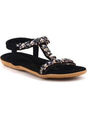 Guja 18y105 Siyah Günlük Rahat Taban Bayan Sandalet Terlik
