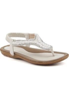 Guja 18y105-19 Beyaz Günlük Rahat Taban Bayan Sandalet Terlik