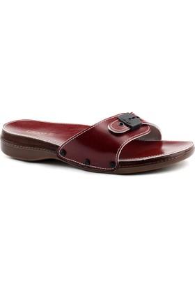 Ceyo 6500 Minelli Kırmızı Ortopedik Bayan Terlik Ayakkabı