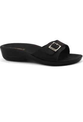 Ceyo Siena-2 Siyah Günlük Anatomik Bayan Terlik Ayakkabı