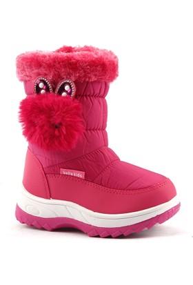 Akınalbella 1055.116 Günlük Fermuarlı Kar Kız Çocuk Bot Ayakkabı