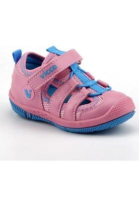 Vicco 332.Z.336 Pembe Kız Çocuk Günlük Ortopedik Spor Sandalet Terlik