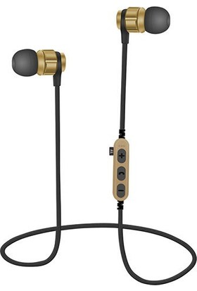 Bludfire MS-T8 Bluetooth Mikrofonlu MP3 Spor Kulaklık - Gold