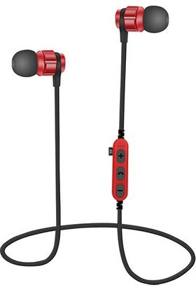 Bludfire MS-T8 Bluetooth Mikrofonlu MP3 Spor Kulaklık - Kırmızı