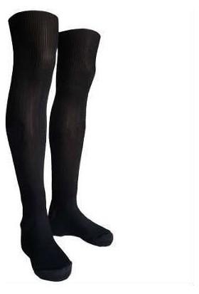 Evox Tam Profesyonel Yetişkin Futbol Çorabı, Tozluk, Konç Siyah