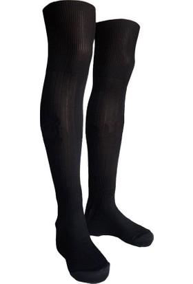 Evox Tam Profesyonel Çocuk Futbol Çorabı, Tozluk, Konç 7-14 Yaş Siyah