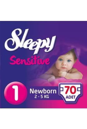 Sleepy Sensitive Bebek Bezi Yeniodoğan 1 Beden Jumbo Paket 70 Adet
