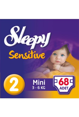 Sleepy Sensitive Bebek Bezi 2 Beden Mini Jumbo Paket 68 Adet