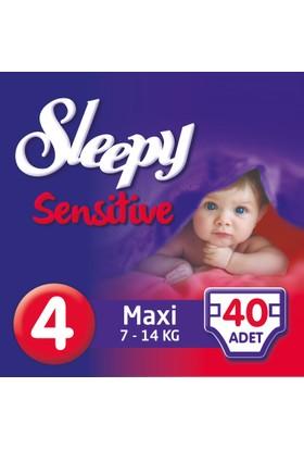 Sleepy Sensitive Bebek Bezi 4 Beden Maxi Jumbo Paket 40 Adet