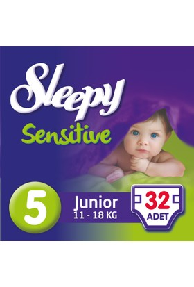 Sleepy Sensitive Bebek Bezi 5 Beden Junior Jumbo Paket 32 Adet