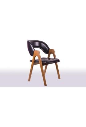Krl Mobilya Koza Giydirmeli Ahşap Sandalye