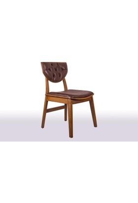 Krl Mobilya Neva Ceviz Ahşap Sandalye